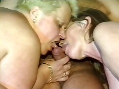 Mamma And Daughter Fuck Aged Guy