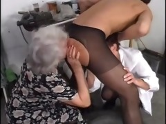 Granny orgy stockings